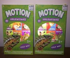 (2) Brand New Motion Animals 32 ct. Valentines Day Cards (64 Valentines Total)