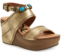 OTBT Layover in Gold Ankle Strap Wedge Sandal Women's sizes 6-10/NEW!!!