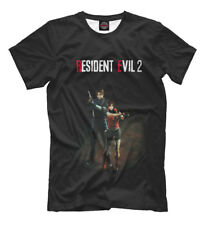 Resident Evil 2 old school game t-shirt Leon Scott Kennedy Claire Redfield
