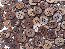B099 Natural Coconut 4 Hole  Sewing Craft Art DIY Round Buttons 12.5mm 50pcs