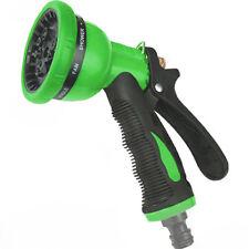 Garden Hose Pipe Spray Gun Head Soft Grip Handle Multi Pattern Water Sprayer