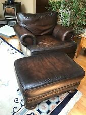 comfortable leather chair and ottoman, Bernhardt brand paid 1200 new