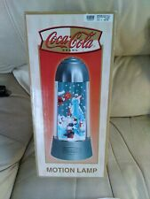 More details for coca cola lamp with  revolving skateboarding polar bears. collectors piece works