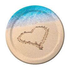 "8 Wedding abroad Beach Party bridal Shower Hawaiian Beach theme party Plates 7"""