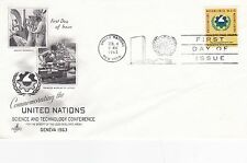United Nations 1963 Science and Technology FDC Unadressed VGC