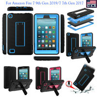 Shockproof Rubber Hard Stand Case For Amazon Fire 7 9th Gen 2019/7 7th Gen 2017