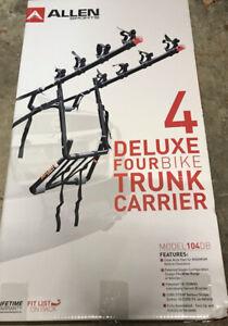 Allen  4 Deluxe -Four Bike Trunk Carrier 104DB - Brand New Unopened Box