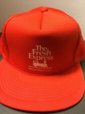 Vintage The Fresh Express Pizza And Pasta Trucker Hat Cap Snapback Adjustable