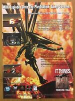 MDK PS1 Playstation PC 1997 Vintage Video Game Print Ad/Poster Art Official Rare