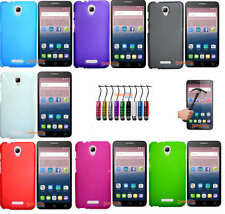 Funda GEL TPU LISA+PROTECTOR CRISTAL TEMPLADO+LAPIZ ALCATEL ONE TOUCH POP 4 PLUS