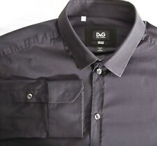 Men's Dolce & Gabbana D&G  Brad black long sleeve stretch fit shirt