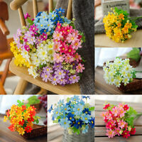 Silk Fake Artificial Rose Bouquet Flowers Floral Leaf Party Home Garden Decors