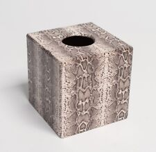 Snake Skin Tissue Box Cover Holder Wooden handmade
