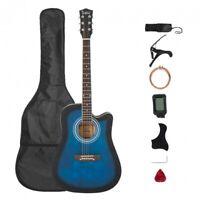 Glarry GT509 41 Inch EQ Cutaway Folk Acoustic Guitar Spruce Front Blue