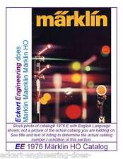 EE 1976 E GD Marklin Märklin Total Catalog Catalogue 1976E Good Condition