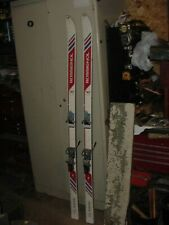 "VINTAGE SNOW SKIS 70"" COTTAGE CABIN DECOR ROSSIGNOL CLASSIC S222 FRANCE"