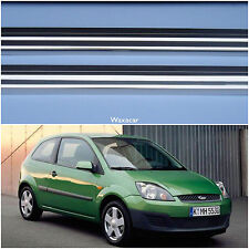 Ford Fiesta 02-08 2 Silver Stainless Steel Kick Plate Door Sill Protectors K33S