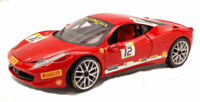 Model Car Scale 1:18 Hot Wheels Ferrari 458 Challenge N.12 Heritage