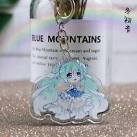 Hatsune Miku anime Acrylic keychain Pendant Keyring key chains ornament new