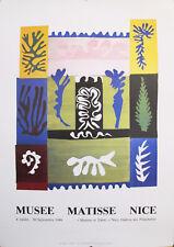 1987 ORIGINAL FRENCH MATISSE EXHIBITION POSTER, NICE AMPHIRITE
