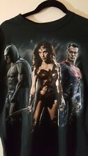 Mens Batman V Superman Dawn of Justice T Shirt Size Large EUC
