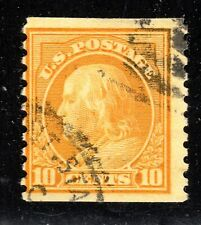 U.S. STAMPS  #497--- 10c WASH-FRANK COIL --   ROT, p10V, UNWK -- 1922 -- USED