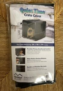 Quiet Time Mid West Dog Crate Cover 28 x 18 x 19 Black NIP