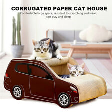 60x30x26cm Cat Car House Cave Scratchers Pet Scratch Board Corrugated Paper