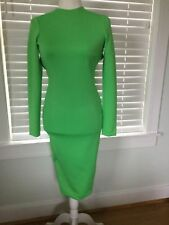 AQUA stunning green dress with open back, size UK8, new with tag