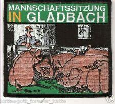 """Anti Gladbach Aufnäher """"Mannschaftssitzung"""" Kutte Weste Fan Patch Kurve neu"""