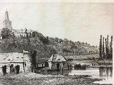 Les vieux trois moulins Château-Gontier Mayenne 1872 A Tancrède Pays de Loire