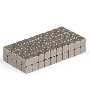 24/50/100 pcs Neodymium Cube Block Magnets 4mm x 4mm x 4mm Rare Earth N50