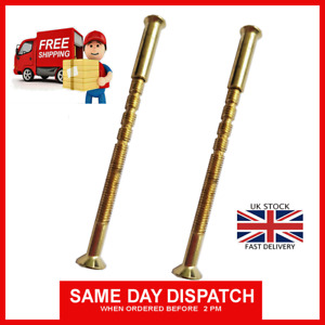 M4 SCREW CONNECTING BOLTS SLEEVES FOR DOOR HANDLES, ROSES, ESCUTCHEONS BRASS