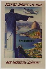Image: Travel Poster: Rio, Pan Am (1937). Cuba (1930s). NOT ORIGINAL POSTER.