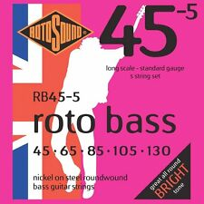 Rotosound Nickel Standard Gauge Roundwound Bass Strings (45 65 85 105 130)