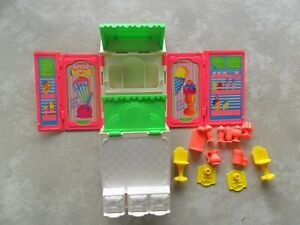 Kenner Fold-Out Refrigerator Ice Cream Soda Parlor Play Set Wish World Kids 1987