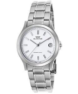 Glycine Vintage Men's Stainless Steel Swiss Quartz Watch 3690-11-SAP-MB
