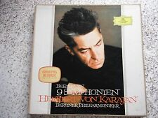 VON KARAJAN BEETHOVEN 9 SYMPH. 9 x LP BOXED SET + BOOKLET 1965 UK STEREO