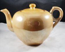 Japanese Gold Lusterware Single Serving Teapot