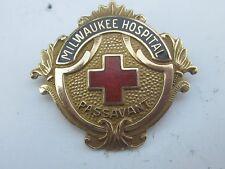Old 1949 10K Solid Gold Milwaukee Hospital School Of Nursing Pin Badge