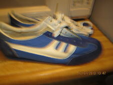 Fox Women Disco Era 1980s Size 10 1/2M , Blue & Whites Sneakers