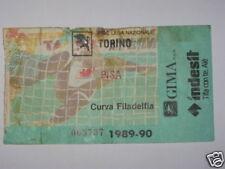 TORINO - PISA BIGLIETTO TICKET 1989 / 90