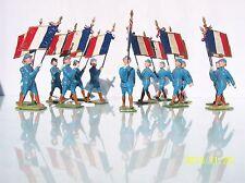 French Dimestore 60Mm (13) French Poilu Flagbearers Nm