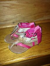 Link Pink Feather Sandals Girls Size 9 Resort Ready