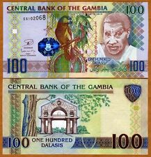 New listing Gambia, 100 Dalasis, 2013 Issue, P-29b, Unc > Parrot
