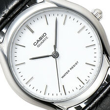 CASIO MEN CLASSIC LEATHER STRAP ANALOG QUARTZ WATCH MTP-1094E-7A WATER RESISTANT
