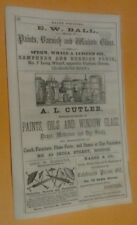1855 Orig Sperm Whale Oil Linseed Dealer Window Glass Blind Made Beds Boston Ads