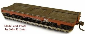 HOn3 WEST SIDE LUMBER EQUIPMENT FLAT CAR WISEMAN MODEL SERVICES RS446 SIMPSON