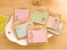 5 x Novelty Cute Lovely Doll Sticky Notes Sticker Marker Memo Notepad Party Gift