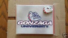 Pack of 10 Gonzaga Bulldog Notecards/Envelopes  +  Bulldog Magnet   Go Zags
